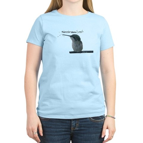 Hummingbird With Attitude  Funny Women's Light T-Shirt by CafePress