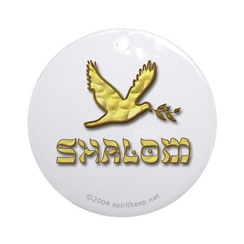 Shalom Dove Ornament Round Peace Round Ornament by CafePress