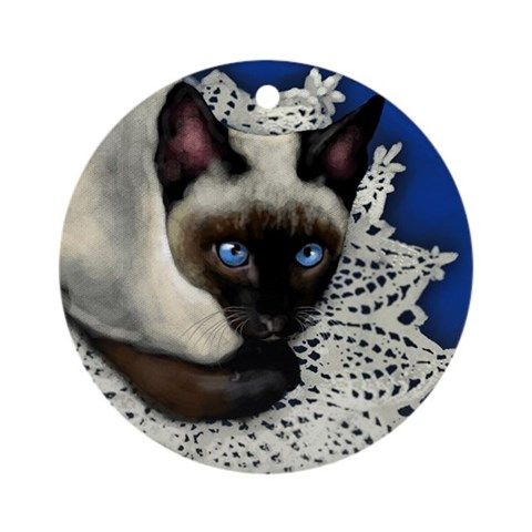 Siamese Cat Ornament Round Cat Round Ornament by CafePress
