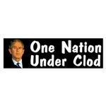 One Nation Under Clod (bumper sticker)