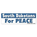 South Dakotans for Peace Bumpersticker