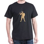 African Warrior Wolf Mask Spear Drawing T-Shirt