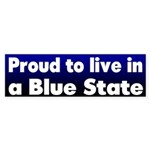 Proud Blue State Bumper Sticker