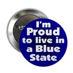 Defiant and Proud Blue State Button