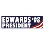 John Edwards '08 (Bumper Sticker)
