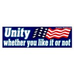 Unity Like it Or Not Bumper Sticker