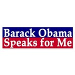 Barack Obama Speaks for Me (sticker)