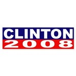 Clinton for President 2008 (bumper sticker)