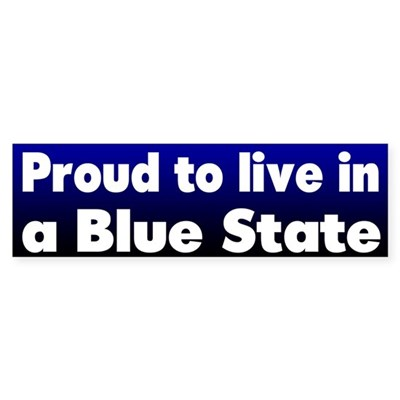 RI Blue State Bumper Sticker