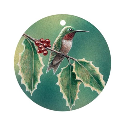 Hummingbird Ornament Round Hummingbird Round Ornament by CafePress