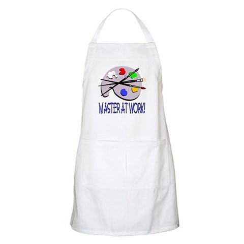 ...Master At Work...  Art Apron by CafePress
