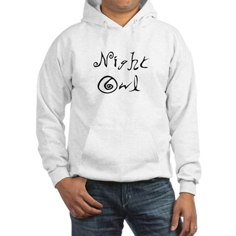 Night Owl  Owl Hooded Sweatshirt by CafePress