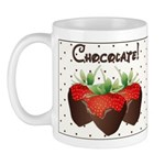 Chocolate Lovers Mug is the perfect gift idea and has an available matching coaster to make a chocolate set!  These personalized mugs are really beautiful!  Check out chocolate lovers theme designs on t-shirts, clocks, mouse pads and more..........