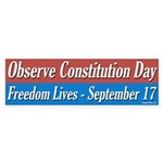 Constitution Day Bumper Sticker