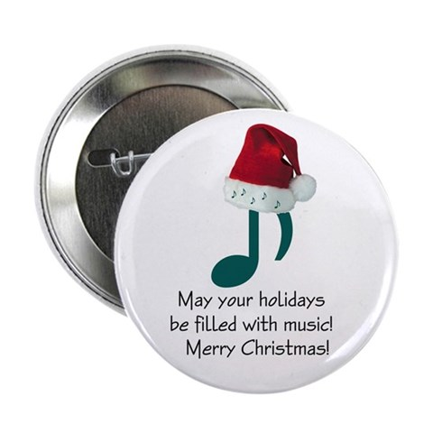 Christmas Music Button $ 4.00