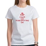 Keep calm and Train Spotting ON T-Shirt