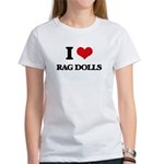 I Love Rag Dolls T-Shirt