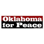 Oklahoma for Peace Bumper Sticker