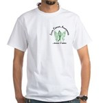Liver Cancer Butterfly 6.1 White T-Shirt