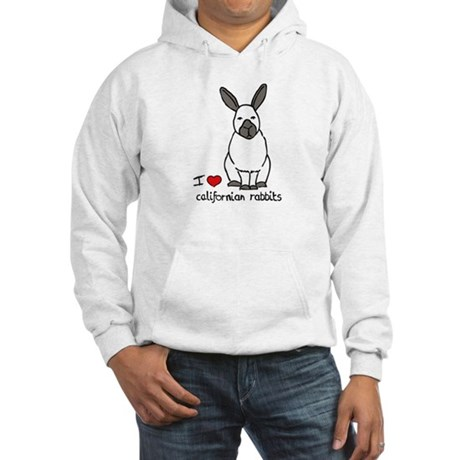 I Love californian Rabbits Hooded Sweatshirt