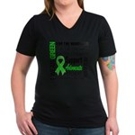 Cerebral Palsy Women's V-Neck Dark T-Shirt