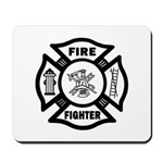 Firefighter Maltese Mousepad