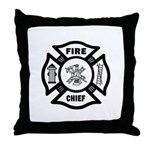 Fire Chief Maltese Throw Pillow is large, comfy and perfect to throw on your family couch, favorite recliner or the Chief's favorite nap spot!