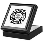 Firefighter gift jewelry, keepsake and storage boxes are beautiful high gloss tile designed, feature a spring loaded hinged lid that stays open without tipping the box and snaps closed securely!  Fully lined in velvet, the bottom of the box is covered in felt and this is truly a beautiful personalized firefighter gift!
