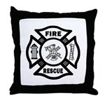 Gifts for fire rescue firefighters, rescue t-shirts, firefighter pillows and home decor all with matching mousepads, travel and coffee mugs, sweats and tee's.