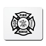 Fire Rescue Maltese Mousepad