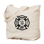 FIREFIGHTER EMT Maltese Tote Bag perfect for fire station, home, shopping, travel and fun!  Click to see this design on t-shirts, gift clocks, mugs, mousepads and more......