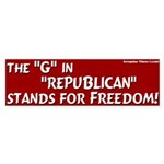Republican Freedom Bumper Sticker