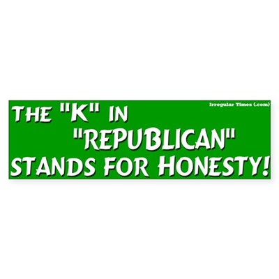 Republican Honesty Bumper Sticker