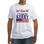 I Voted For Kerry Fitted T-Shirt