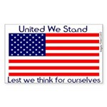 United Lest We Think Flag Sticker