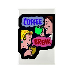 Retro Coffee Break Magnet