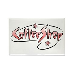 Retro Coffee Shop Magnet