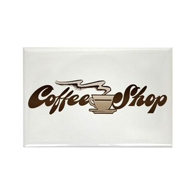 Vintage Coffee Shop Magnet