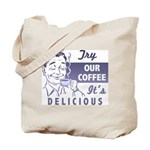 Coffee Shop Ad Tote Bag