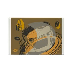 Abstract Coffee Shop Magnet