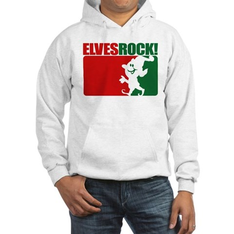 Elves Rock Christmas Hooded Sweatshirt by CafePress
