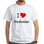 I heart big brother White T-Shirt