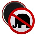 No GOP Elephants! Magnet (100 pack)