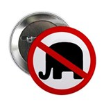 No GOP Elephant Button (100 pack)