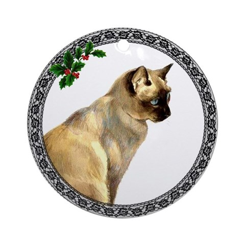 Tonkinese Cat Ornament Round Cat Round Ornament by CafePress
