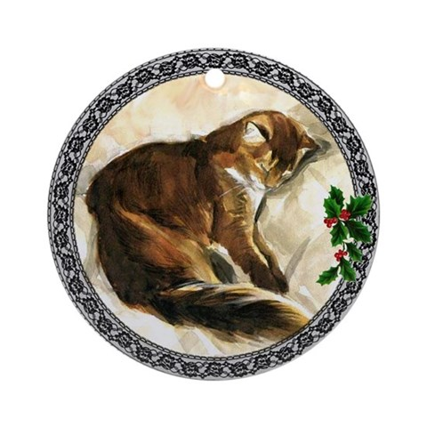 Somali Cat Ornament Round Cat Round Ornament by CafePress