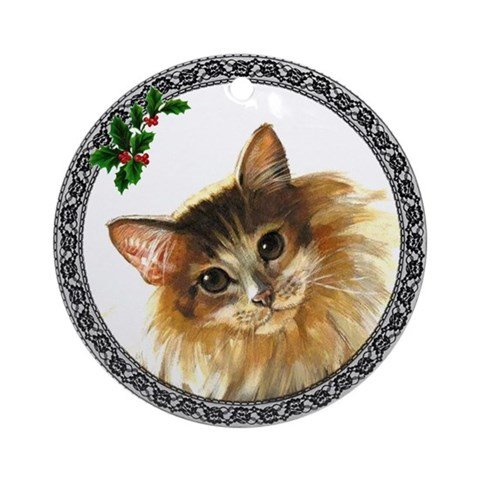 Siberian Forest Cat Ornament Round Cat Round Ornament by CafePress