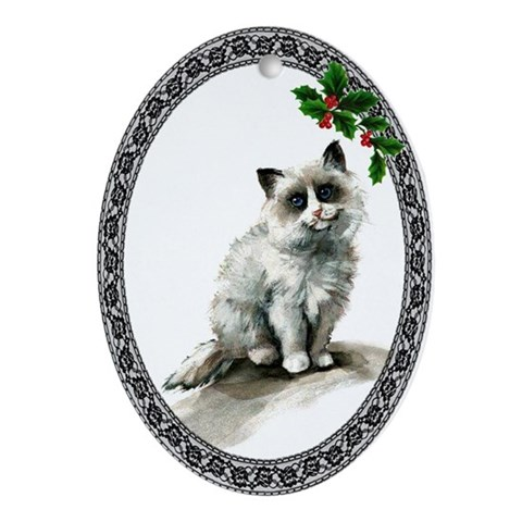 Ragdoll Cat Cat Oval Ornament by CafePress