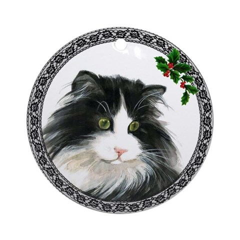 Norwegian Forest Cat Ornament Round Cat Round Ornament by CafePress