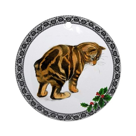 Manx Cat Ornament Round Cat Round Ornament by CafePress